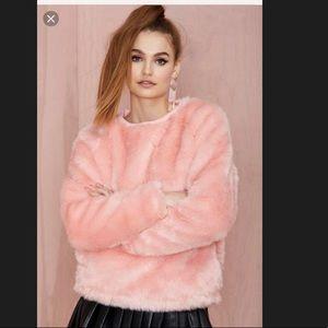 JOYRICH candy pink fuzzy top